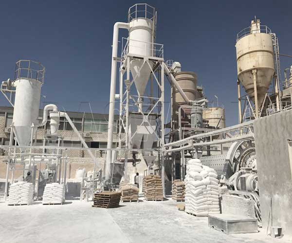 heavy calcium carbonate powder production