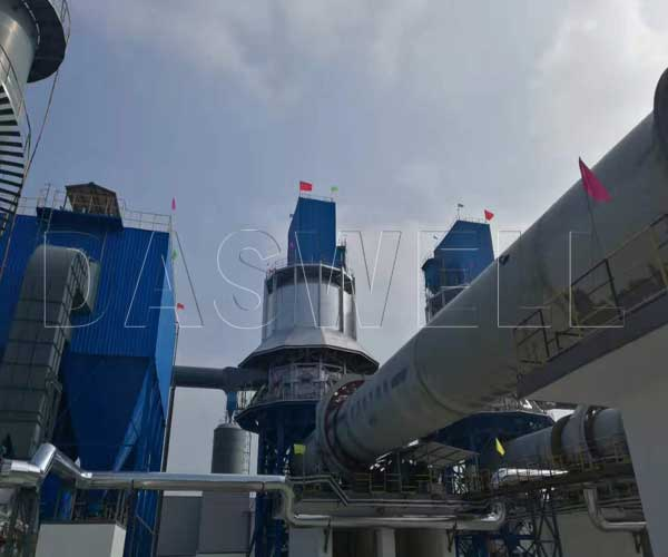 preheater kiln for lime calcination plant