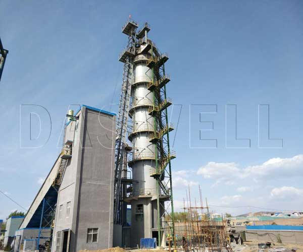 vertical kiln lime production line