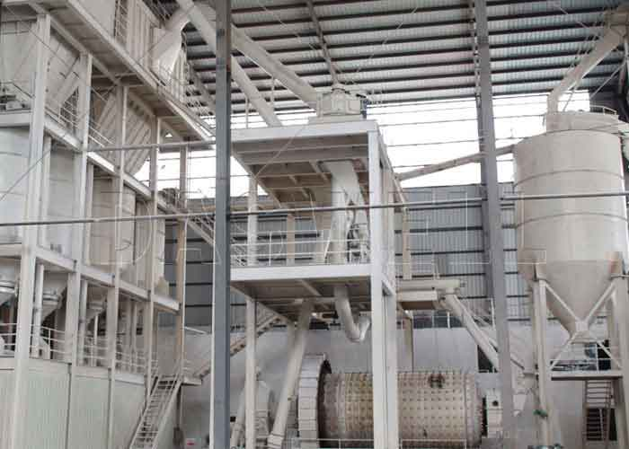 ball mill classifying system for calcium carbonate