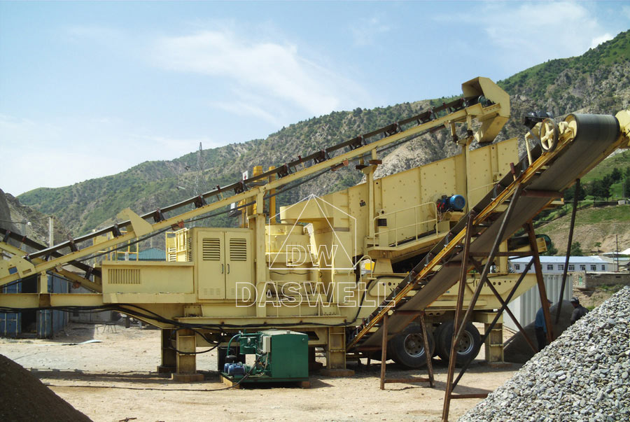 daswell mobile stone crushing plant sale