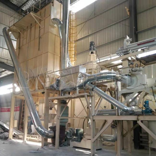 the vortex mill machine in construction site
